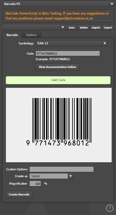 BarCode and QRCode 1D/2D Barcode PowerScript Plugin for