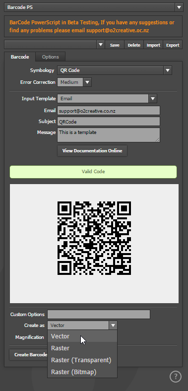 BarCode and QRCode 1D/2D Barcode PowerScript Plugin for Adobe